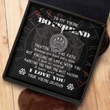 To My Viking Boyfriend - Viking Necklace - Message Card - TQNL0066