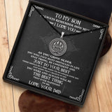 To My Viking Son From Dad - Viking Necklace - Message Card - TQNL0075