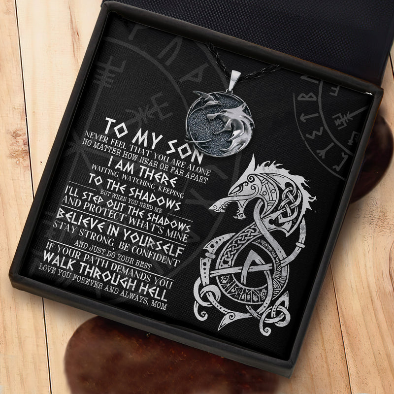 To My Viking Son From Mom- Viking Necklace - Message Card - TQNL0078