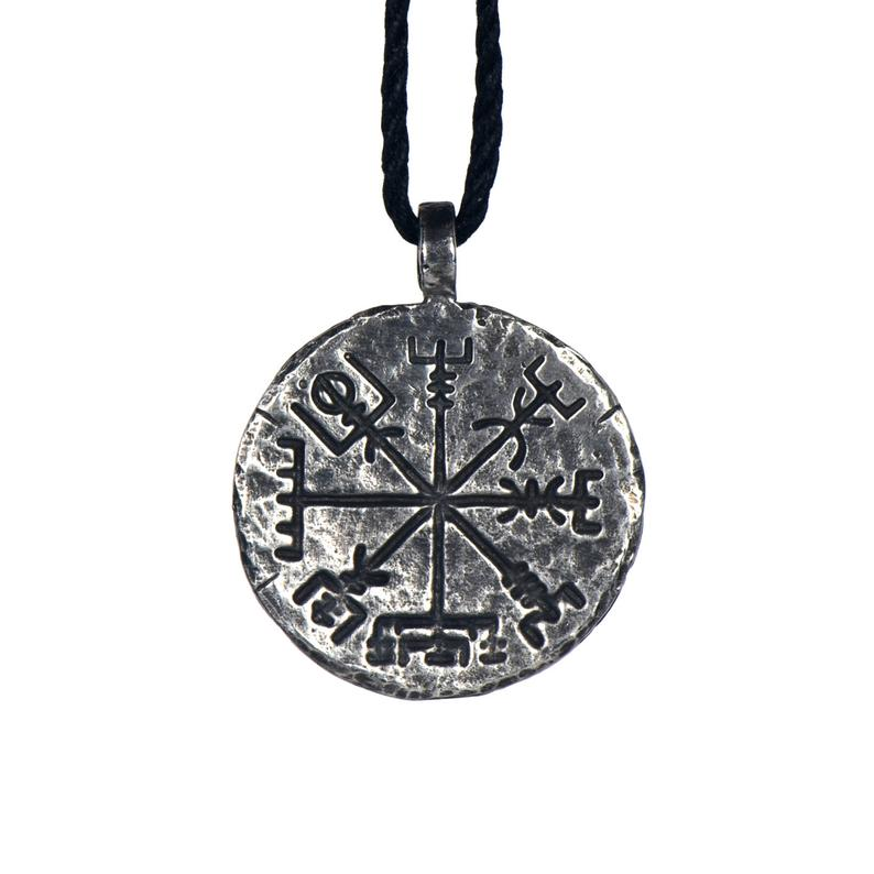 Viking Norse Traveler's Protective Necklace Vegvisir Pendant Necklace - VKNL0001