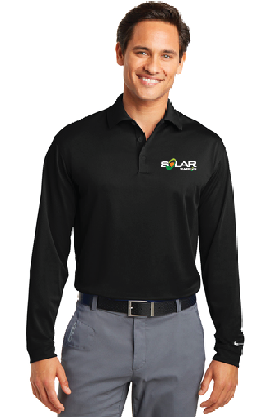 Solar Nike Long Sleeve Dri-FIT Stretch Tech Polo