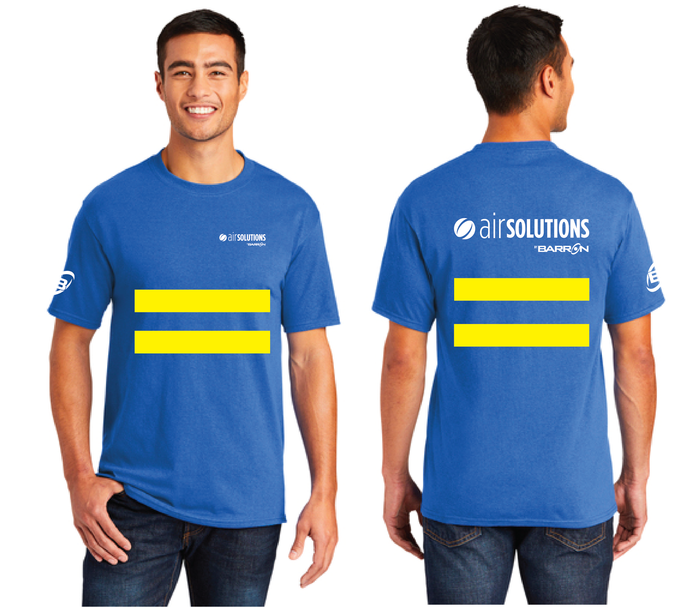Air Solutions Tee with Safety Stripes (Orange, Blue)