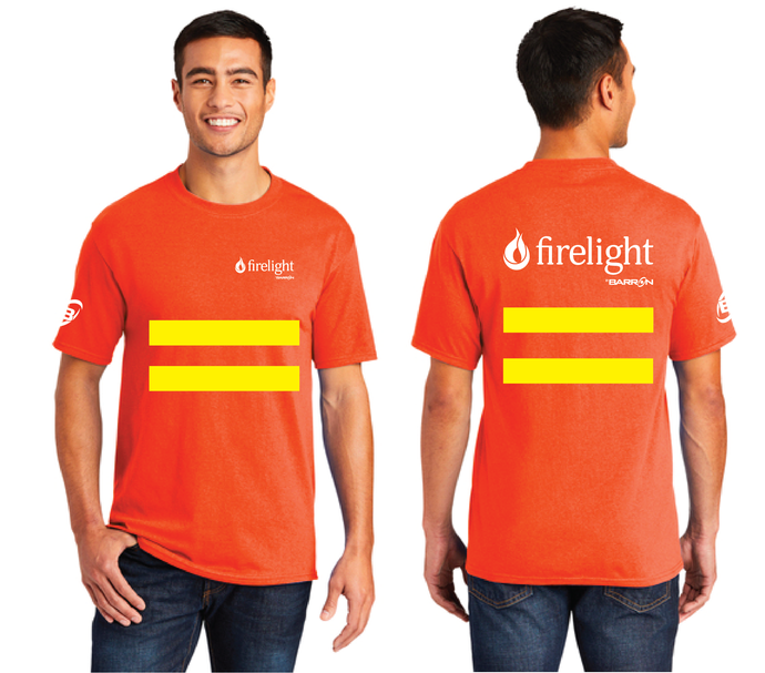 Firelight Tee with Safety Stripes (Orange, Blue)