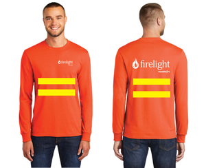 Firelight Long Sleeve Tee with Safety Stripes (Orange, Blue)