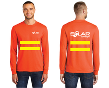 Load image into Gallery viewer, Solar Long Sleeve Tee with Safety Stripes (Orange, Blue)
