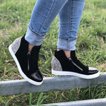 Moselle (Black Suede/White Pony)