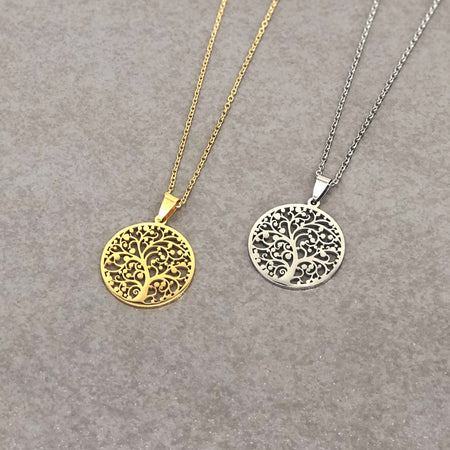 Tree of Life Necklace Silver/Gold