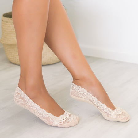 Lace Sockets (Black & Nude)