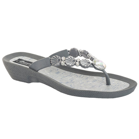 Sea Shell V Thong (Grey)