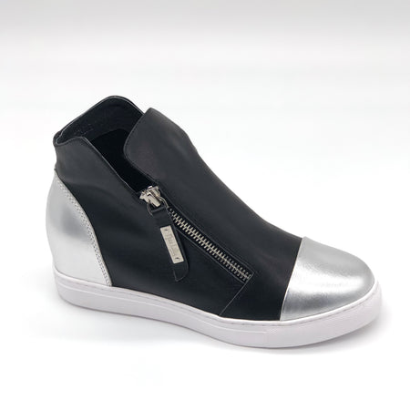 Black -Silver Heel Patch & Toe