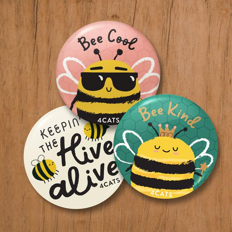 Keepin' the Hive Alive Button Set