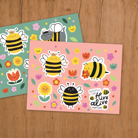 Keepin' the Hive Alive Bee-utiful Sticker Set
