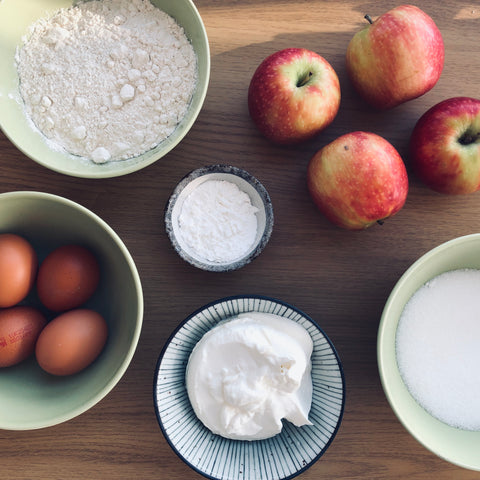 Ingredients for apple pie