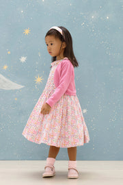 Baby Girl - Lara Hand Embroidered 100% Cotton Smocked Dress In Wild Flower Print