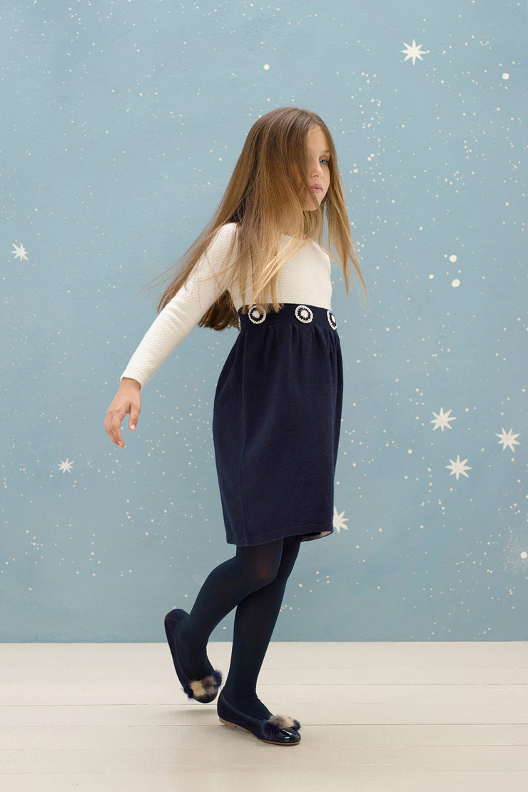 Girl - Livia Cashmere Bobble Stitch Dress
