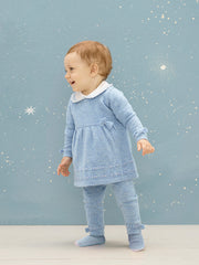Baby Girl - Cashmere Baby Doll Top With Bow Detail And Leggings Set
