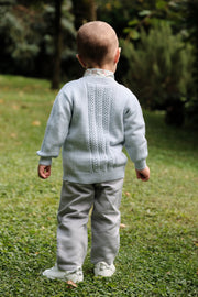 Baby Boy - Hudson 100% Royal Alpaca Cardigan