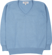 Boy - Cotton V-Neck Jumper With Long Sleeves