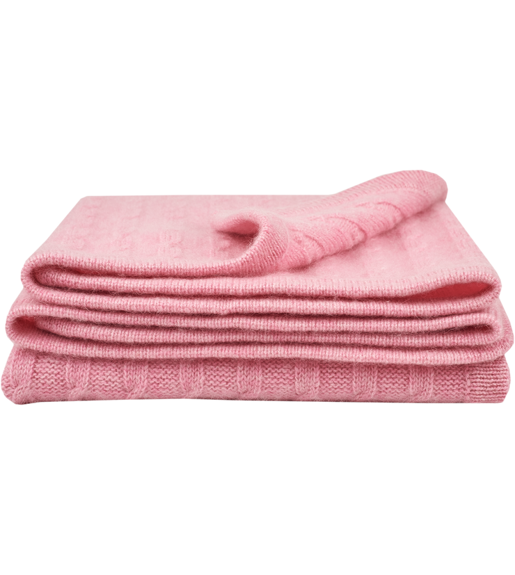 Baby Girl - Peyton Cashmere Cable Knit Blanket