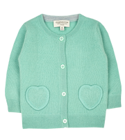 Baby Girl - Sweetheart 100% Cashmere cardigan