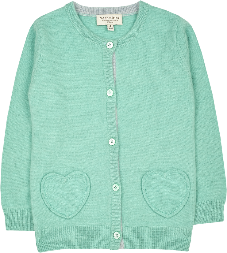 Girl - Sweetheart Cashmere cardigan