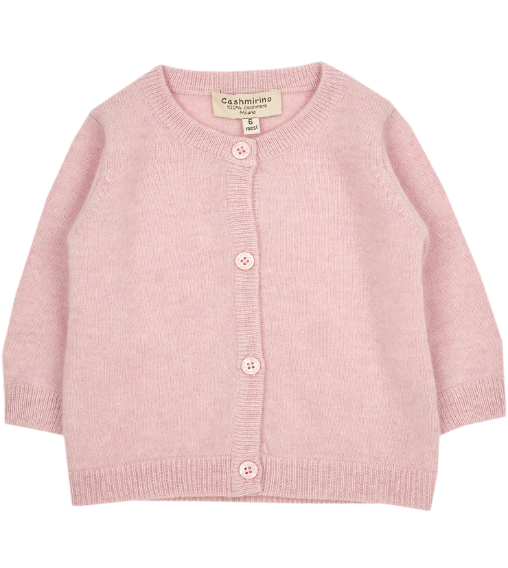 Baby Girl - Sofi Cashmere Crew Neck Everyday Cardigan