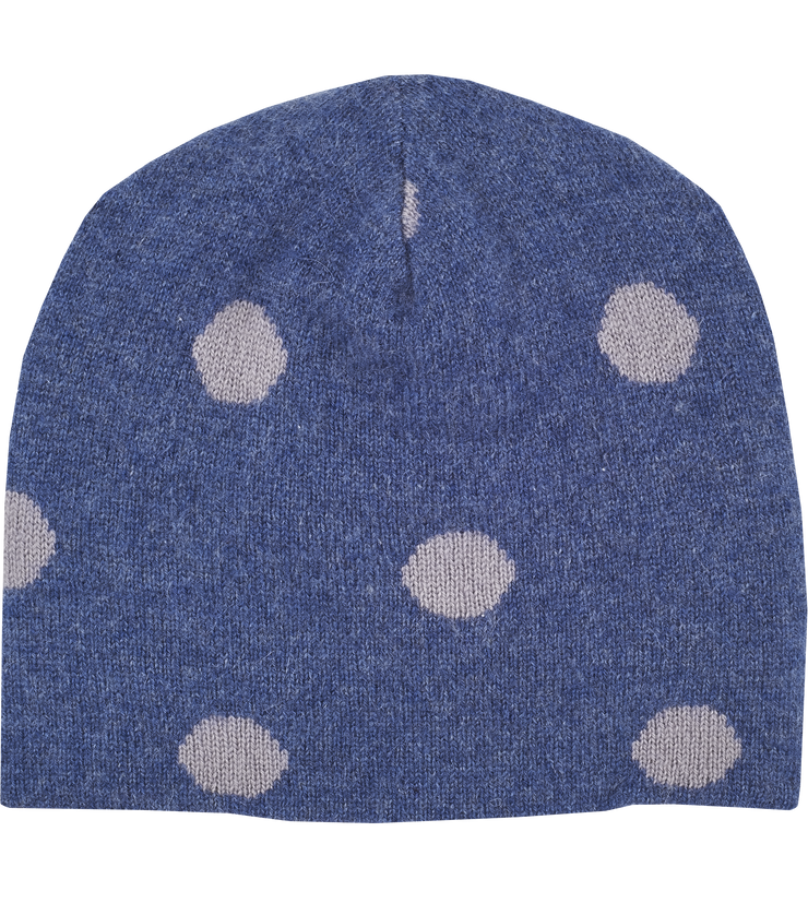 Baby Girl - Cashmere Reversible Hat With Intarsia Circles