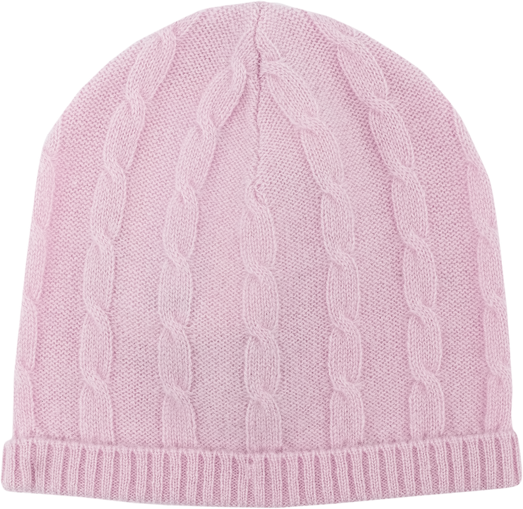 Baby Girl - Andrea 100% Cashmere Cable Knit Hat