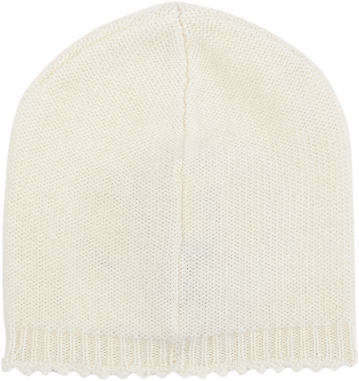 Baby Girl - 100% Cashmere Knitted Hat With Crochet Border