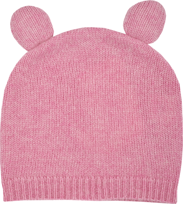 Baby Girl - Teddy 100% Cashmere Teddy Bear Hat