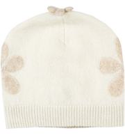 Baby Girl - Laurel 100% Cashmere Hat with Contrasting Floral Embroidery