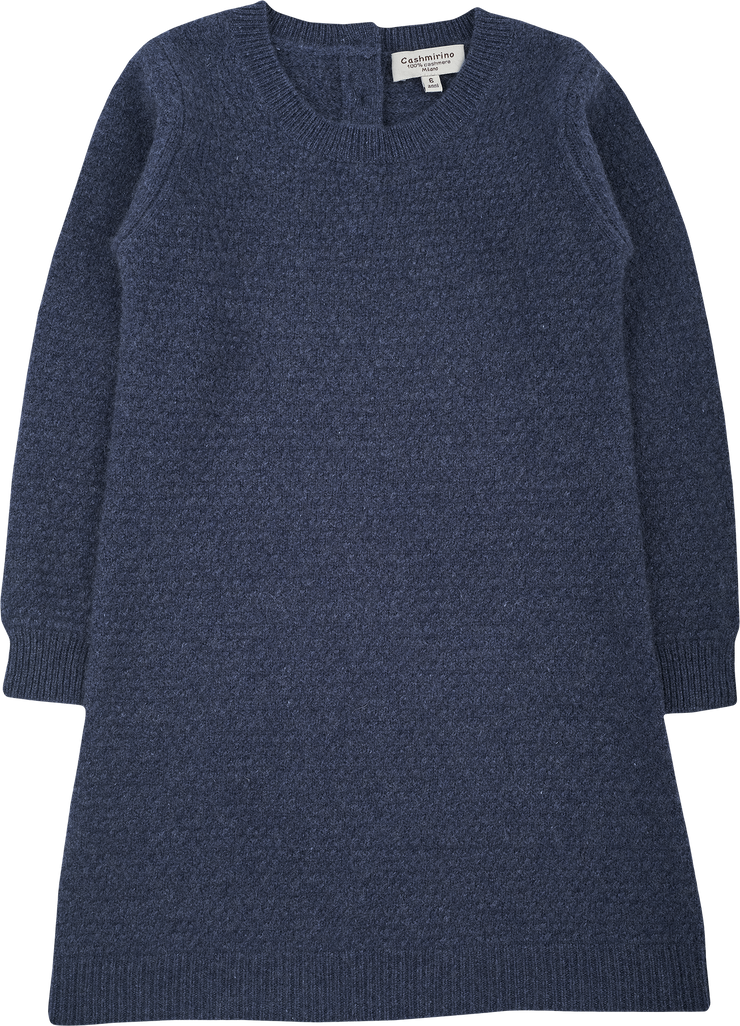 Girl - 100% Cashmere A-Line Textured Knitted Dress
