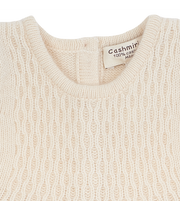 Baby Girl - 100% Cashmere Knitted Dress in Plain and Circle Knits