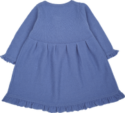 Baby Girl - Sophia Cashmere Ruche Dress With Pleat Detail