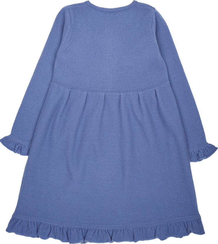 Girl - Sophia Cashmere Ruche Dress With Pleat Detail
