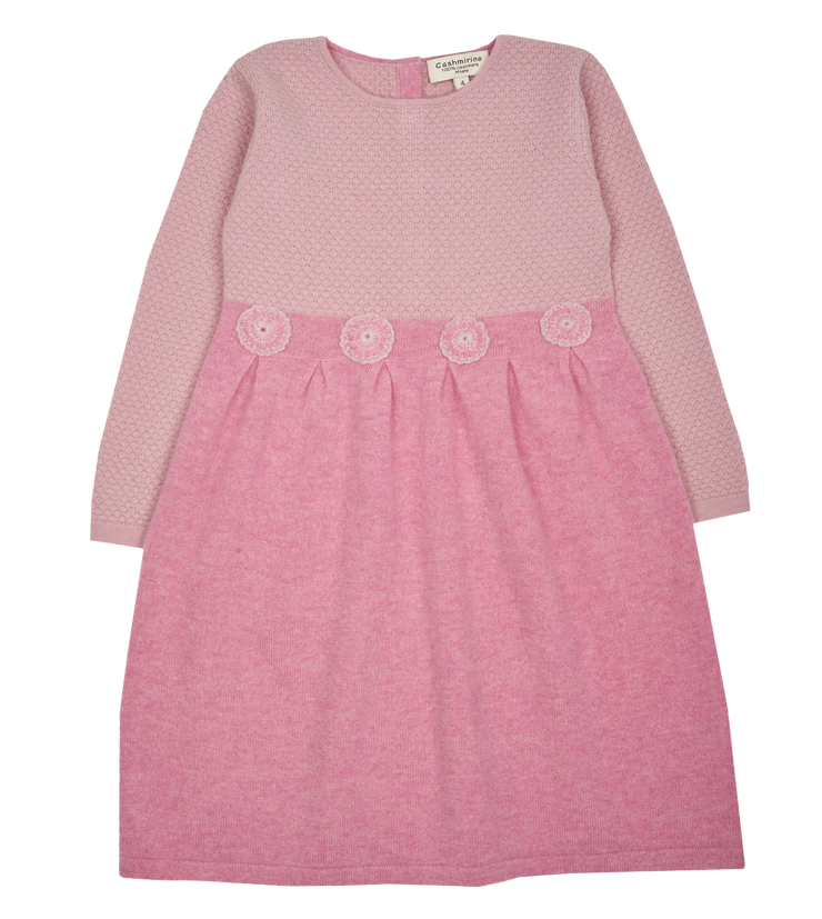 Girl - Livia 100% Cashmere Bobble Stitch Dress
