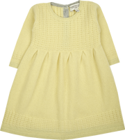 Baby Girl - Cindy Cashmere Bamboo Stitch Long Sleeve Dress