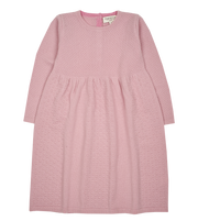 Girl - Annabelle 100% Cashmere Knitted Bobble Stitch Detail Dress
