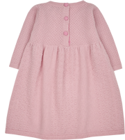 Baby Girl - Annabelle Cashmere Knitted Bobble Stitch Detail Dress