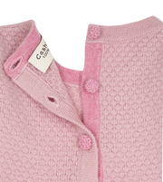 Baby Girl - Annabelle 100% Cashmere Knitted Bobble Stitch Detail Dress