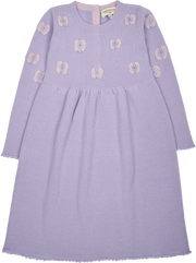 Girl - Anna Cashmere Fairy Dress with Crochet Butterfly Detail