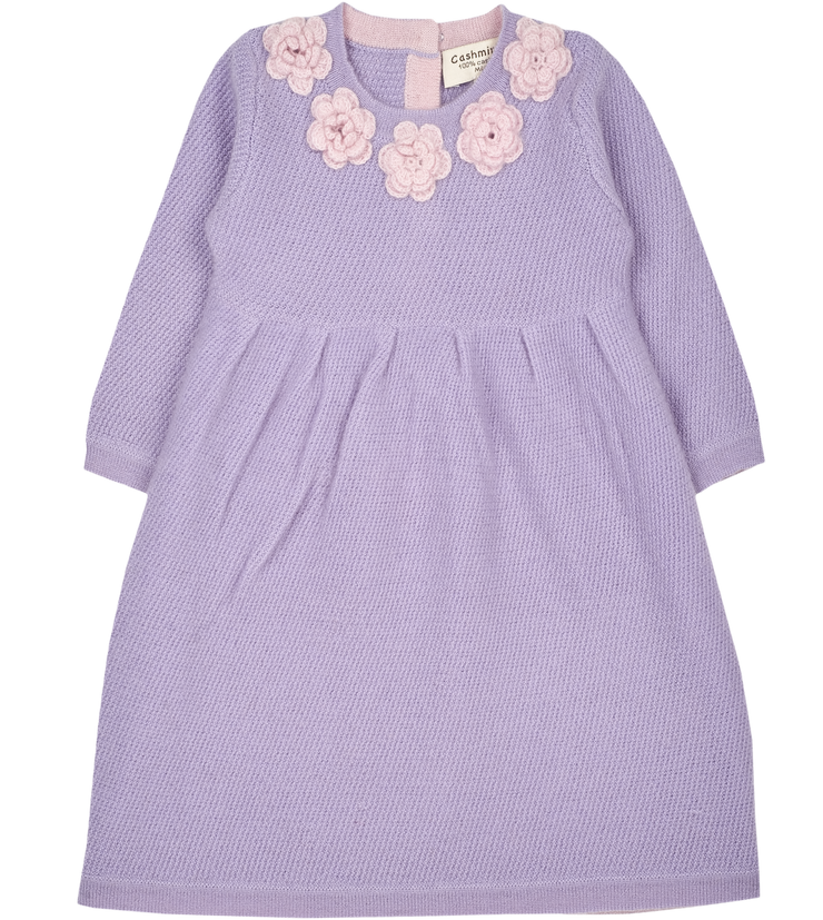 Baby Girl - Rosa Cashmere Tunisian Stitch Dress