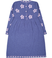 Girl - Cordoba Cashmere Dress with Floral Intarsia