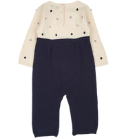 Baby Girl - 100% Cashmere Romper with dot detail