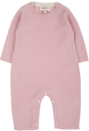 Baby Girl - 100% Cashmere Reverse Knitted Romper