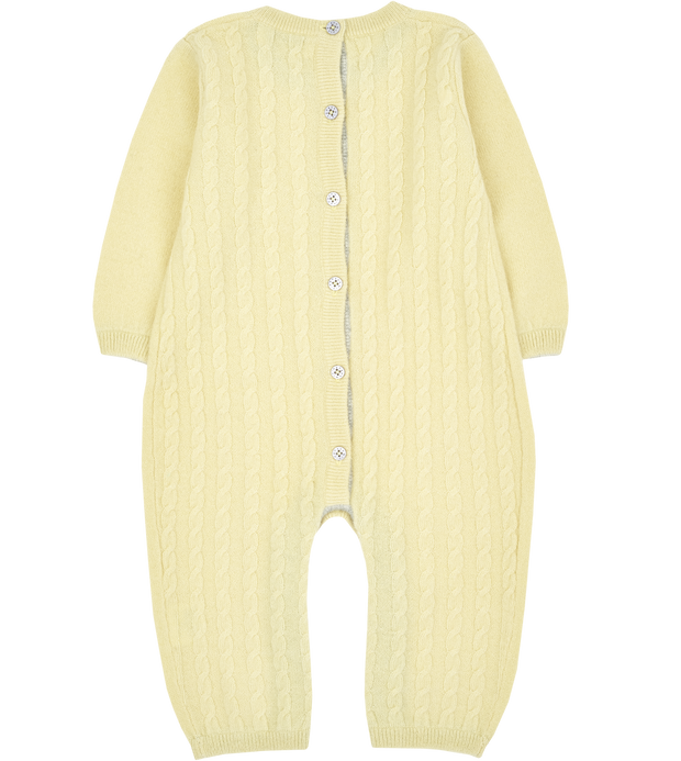 Baby Unisex - Drew Cashmere Romper With Cable Knit Panel