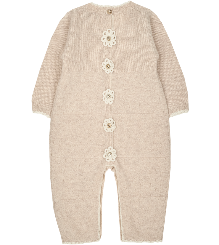 Baby Girl - Clelia 100% Cashmere Romper
