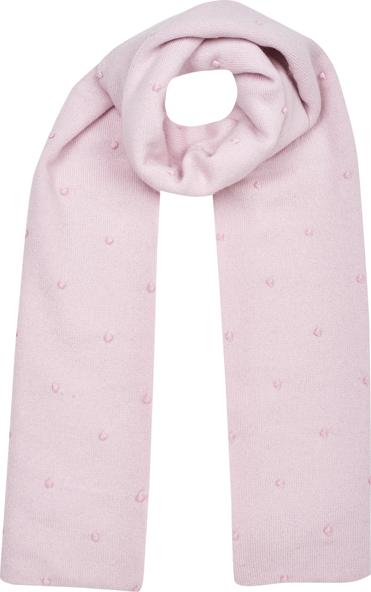 Girl - 100% Cashmere Reversible Scarf With Contrasting Embroidered Dots