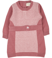 Baby Girl - Seed stitch panel set 100% Cashmere Set