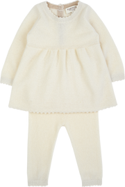 Baby Girl - 100% Cashmere Baby Doll Top With Matching Leggings